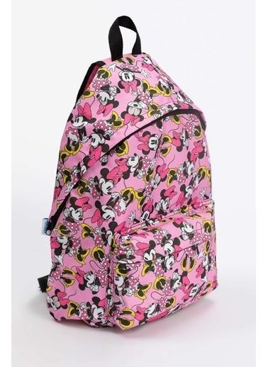 DeFacto Kız Çocuk Minnie Mouse Lisanslı Okul ve Sırt Çantası Renkli